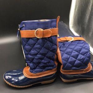 7 VIP NY Blue Rain Boots Shoes